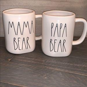🎀🆕Rae Dunn MAMA BEAR PAPA BEAR Mugs